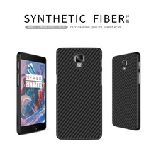 Oneplus 3 Nillkin синтетического волокна Сотовый телефон чехол для Oneplus 3 One plus 3 Т (5.5 ») жесткий Углеродного Волокна PP Пластика Задняя Крышка Крышка