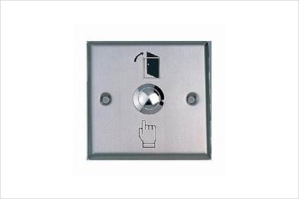 Free Shipping Stainless NO NC COM Suitable For Hollow Doors Access Control System Press Exit Button