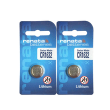 Renata 2pcs CR1632 3V Lithium Battery Button Cell Coin Batteries For Camera Watches