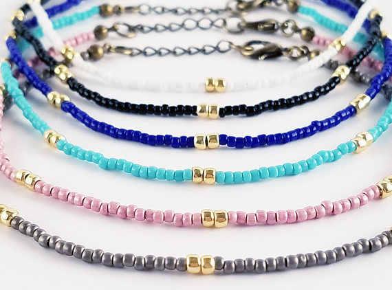 4 צבע בוהמיה חרוז עכס לנשים אופנה זהב צבע חרוז קרסול צמידי על רגל חוף שרשרת רגל תכשיטים