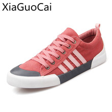 Fashion Brand High Quality Men Casual Shoes Round Toe Mens Canvas Shoes Low Top Lace-up Sneakers Drop Shipping