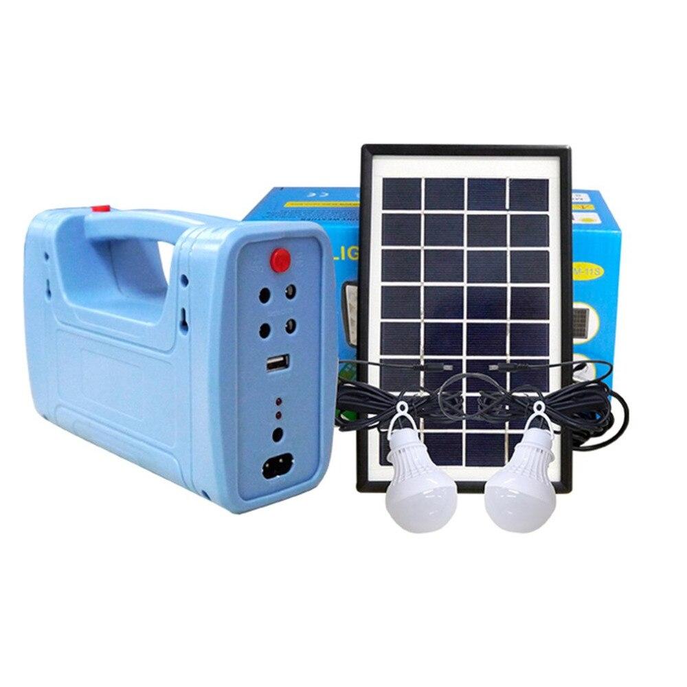 Tout nouveau Kit de générateur de panneau d'énergie solaire chargeur USB système de maison lumière éclairage intérieur/extérieur avec protection contre les décharges