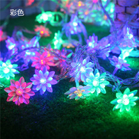 Led String light water lily flower 10M 100led decoration tools outdoor home garden use waterproof AC220V 9 colors TR