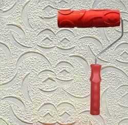 Okrzemek śluzu narzędzia ścienne narzędzie do malowania 7 cal gumowe tłoczone rolki do dekoracji ścian nr 033 w Zestaw narzędzi do malowania od Narzędzia na