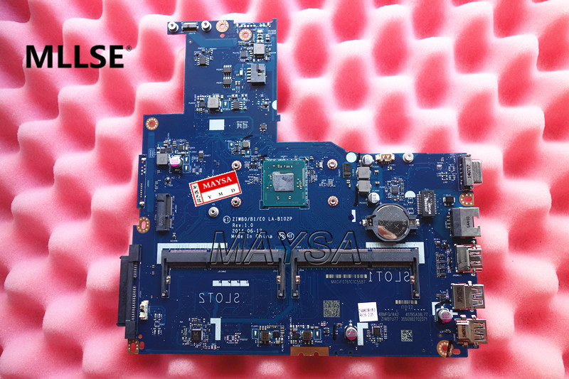 High Quality laptop motherboard fit for Lenovo B50-30 15 inch ZIWB0B1E0 LA-B102P with Processor DDR3L 100% Fully Tested brand new ziwb2 ziwb3 ziwe1 la b092p rev 1 0 for b50 70 laptop motherboard mainboard with with sr1ek core i3 4005u