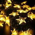 Solar LED Luzes Da Corda Da Estrela Do Mar, 30 LED Fada Luz Decorativa de 20ft, Ideal para o Interior do Festival Ao Ar Livre Decoração Do Feriado Do Partido