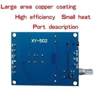 Image 3 - Tpa3116d2 50w + 50 amplificador de potência estéreo digital placa amplificador áudio para 12v 24v carro 50w * 2 100w