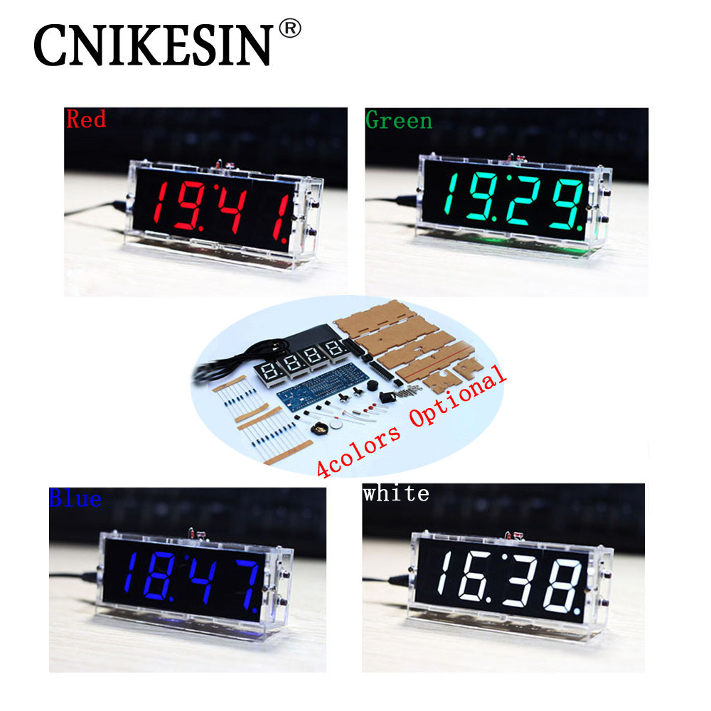 CNIKESIN DIY Digital clock production suite voice timekeeping clock parts LED DIY SCM training electronic watch