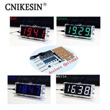 CNIKESIN DIY Цифровые часы production suite голос хронометраж часы части LED DIY СКМ обучения электронные часы 4 цвет (опционально