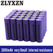 8-40PCS 18650 Li-ion 3.7v Battery 2600mAh 26f lithium batteries for Laptop,Toy,Electric drill battery,Power battery,lion