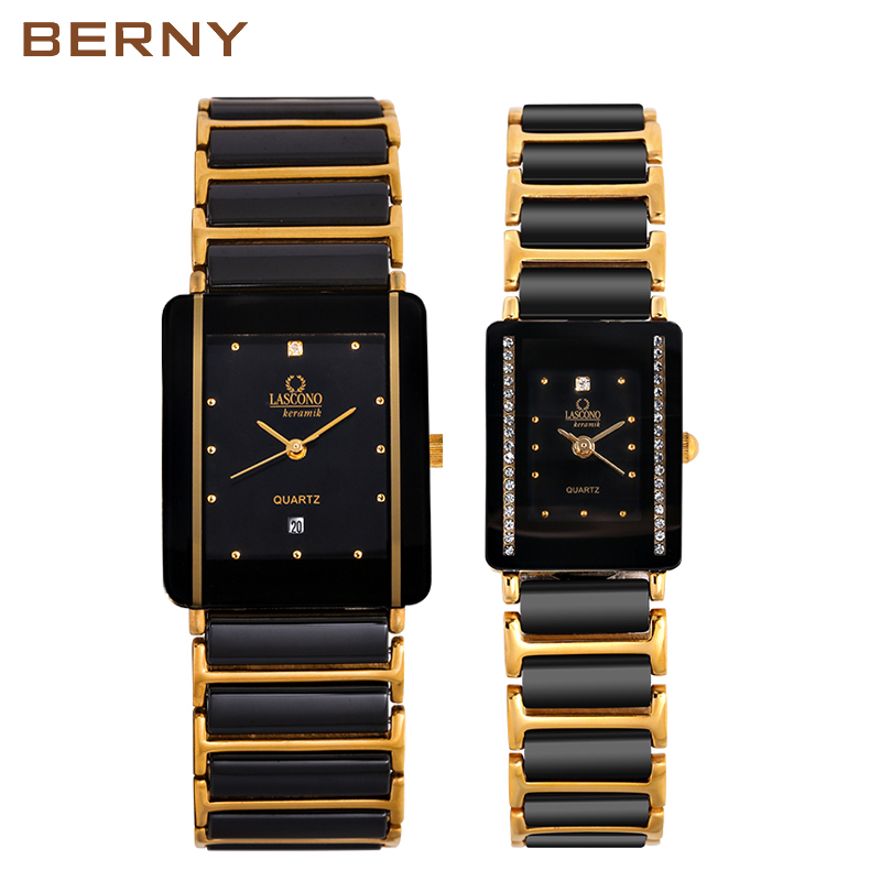 Mens Watch Ceramic Janpanese Couple Lovely Watch Relogio Masculino Water Resistant Relogio Feminino Gift Present Couple 2010L