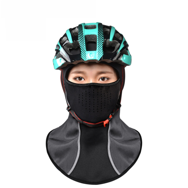 Rockbros Winter Cycling Cap Windproof Thermal Face Mask Balaclava Bandana Sport Ski Running Bike Bicycle Neck Hat Head Scarf Men