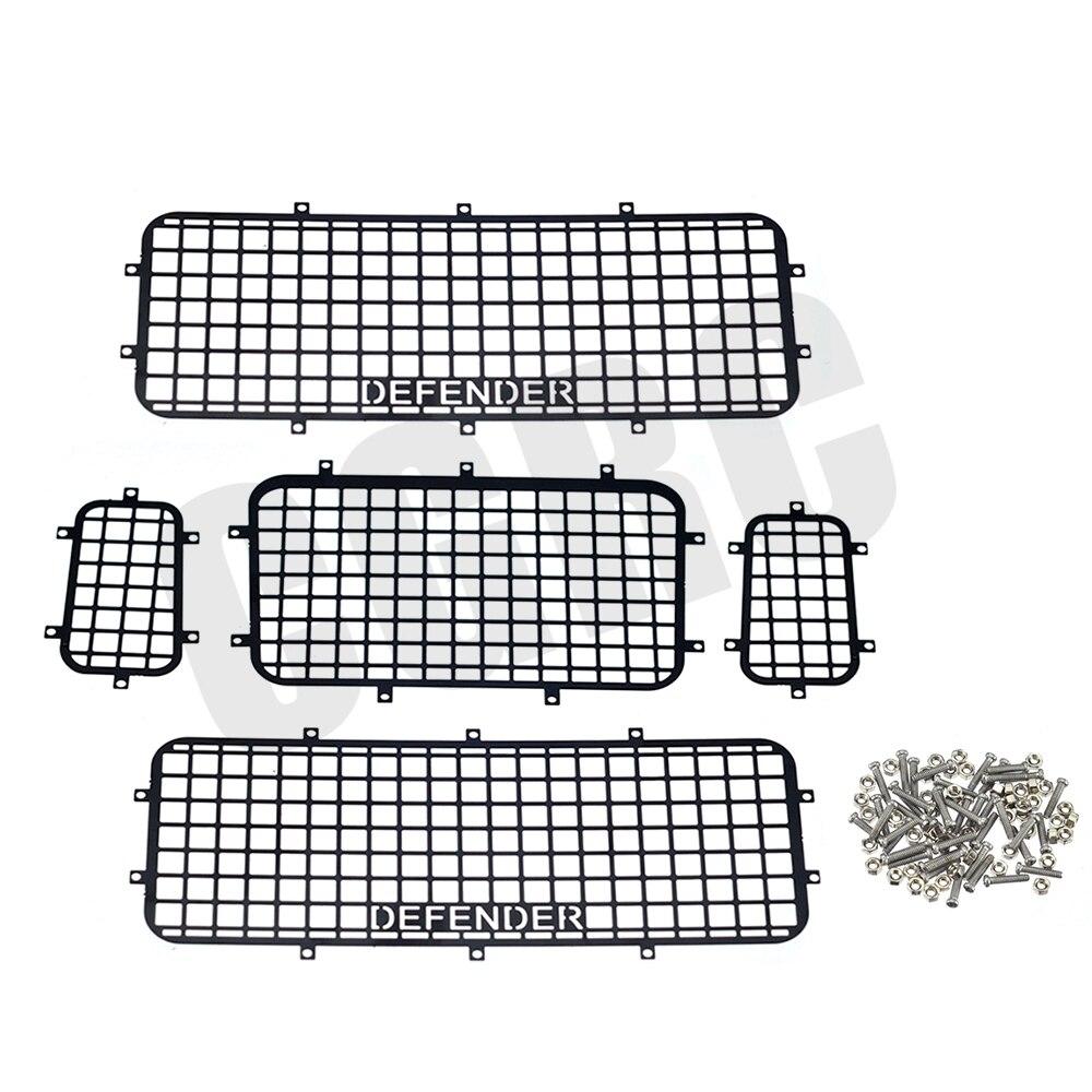 Trx4 T4 Metal Window Mesh Protective Net For 1/10 Rc Crawler Car Defender Trx-4