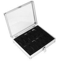 12 Grid Leather Watch Case Jewelry Display Collection Storage Organizer Box Holder Caja Reloj Caixa De