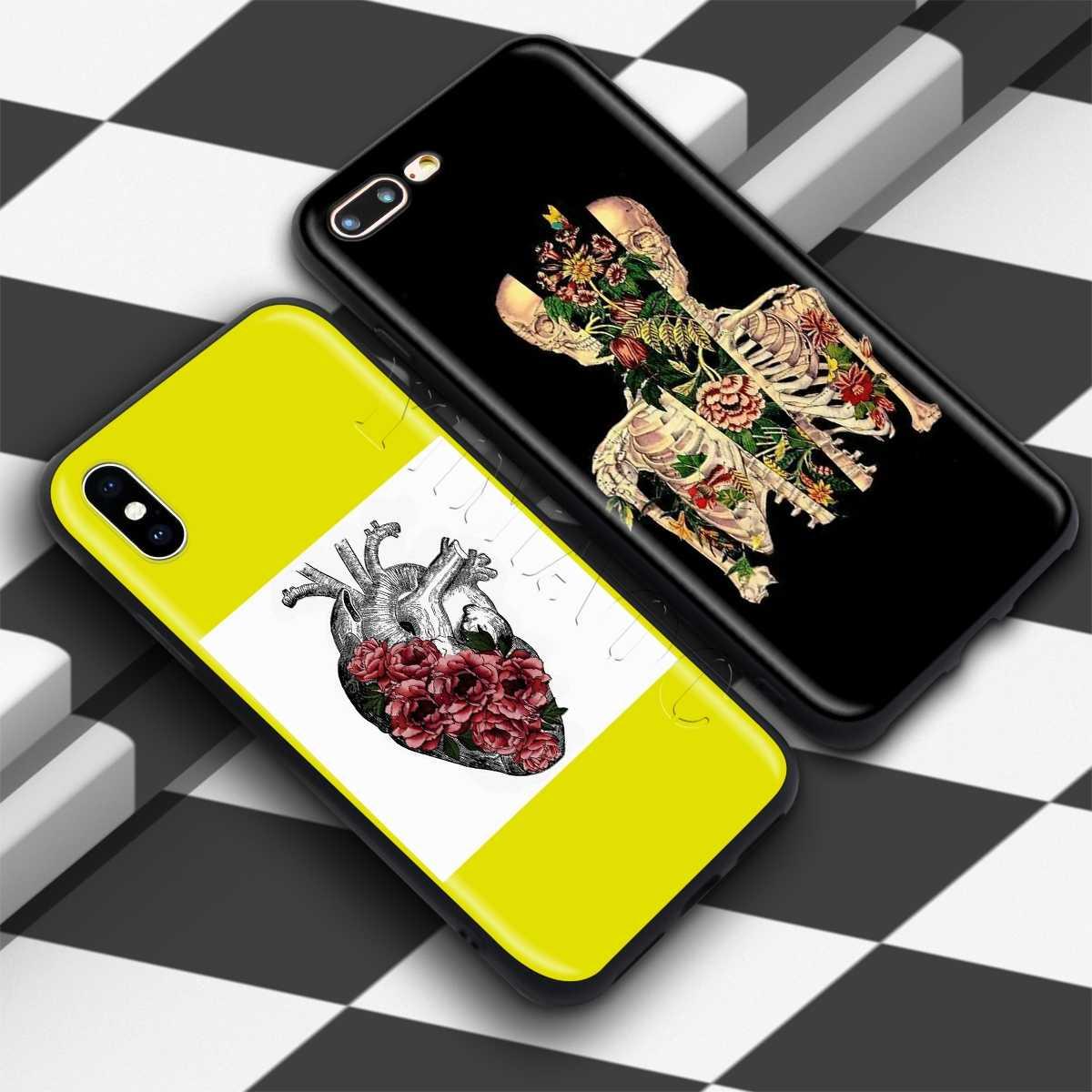 YIMAOC פרח לב אביב רך סיליקון מקרה עבור iPhone 11 פרו XS Max XR X 8 7 6 6S בתוספת 5 5S se