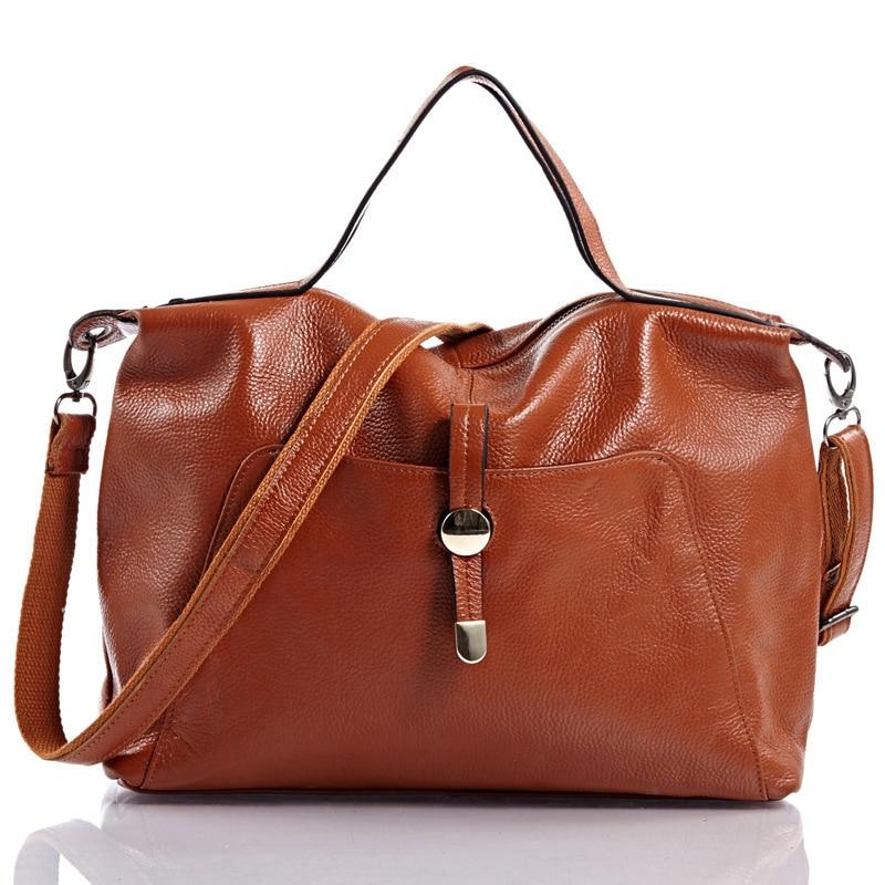 купить 2017 Genuine Leather Boston Women Handbag Fashion Luxury Shoulder Bag Solid Zipper Women Pillow Bag Ladies Bag bolsos sac a main дешево