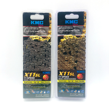 KMC X11SL Bicycle Chain 11 Speed 118 Links Quick Link Full Hollow  Road MTB Mountain Bike Chain  11 variable Gold Silver цена
