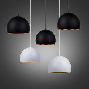 Image 5 - Moderne Einfache Ball E27 Anhänger Lichter Cafe Restaurant Beleuchtung Anhänger Lampe Leuchten Schmücken Lampe Droplight