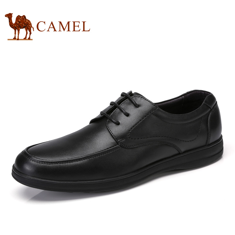 купить 2017 camel men's shoes new comfortable business casual cowhide lace with low shoes men's shoes A712118290 недорого
