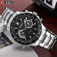 Curren 8020 Quartz Black Full Steel Vogue Business Military Man Men S Watches Clock Male Waterproof