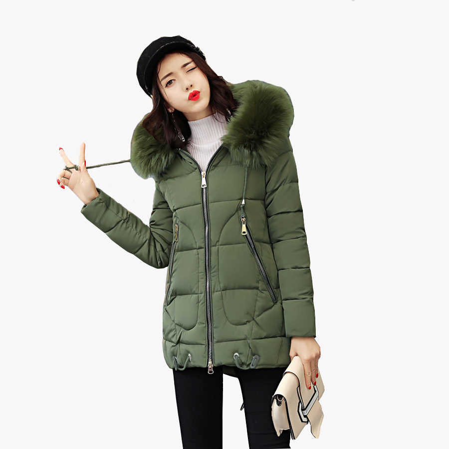 2017 Wad coat winter jacket women casual silm womens clothing hood fur collar outwear coat women  warm winter parkas saints row 4 super dangerous wad wad edition