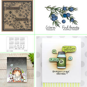 2019 new green plant design transparent seal for scrapbooking rubber stamp sealing paper craft clear seal card production
