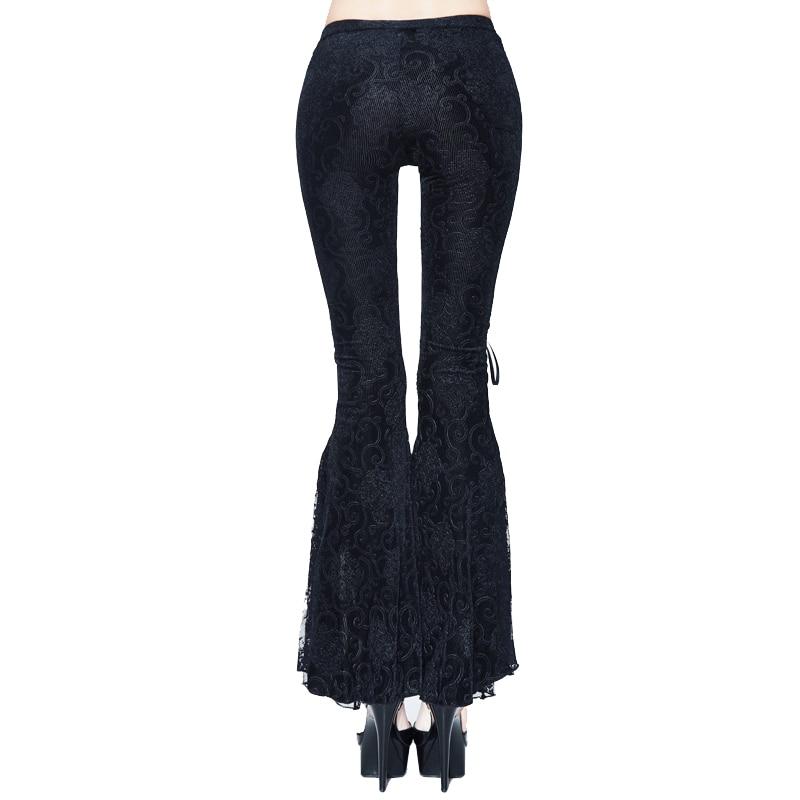 La Del Black Nueva Tobillo Sexy Llegada Las 2018 Pantalones Góticas De Negro longitud Flare Diablo Mujeres Bangdage Lace Manera A7Ufaqn