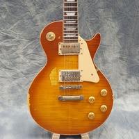 handwork Heavy Relic Electric guitar,One piece Body & Neck with Flame Maple Top, Bone nut, Tonepro bridge, Aged Guitarra parts!