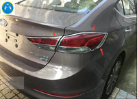 For Hyundai Elantra Sedan 2016 2017 ABS Rear Tail Light Lamp Cover Trim