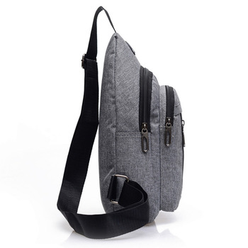 Fashion Men's Outdoor Sports Oxford Cloth Crossbody Shoulder Bag Breast Bag Waist Bag Y415 4