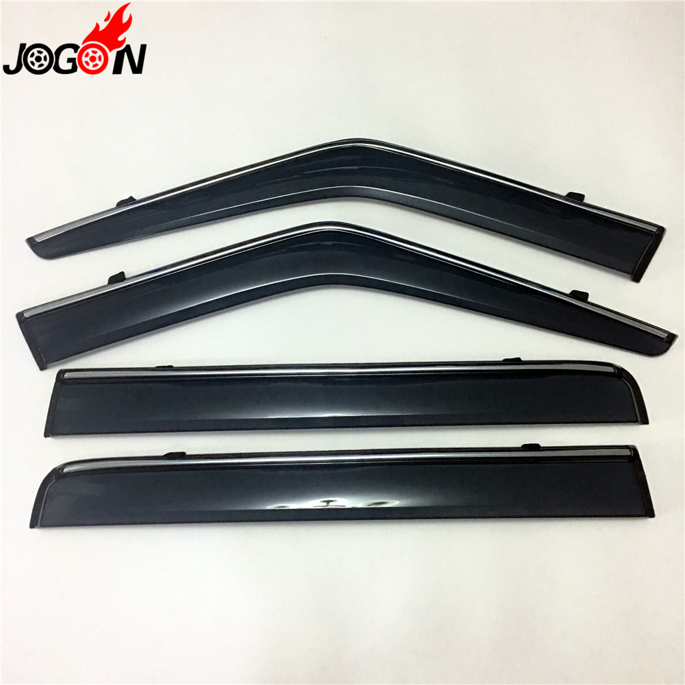 window sun rain visors super vent shade deflector guard shield 4pcs for land rover discovery 4
