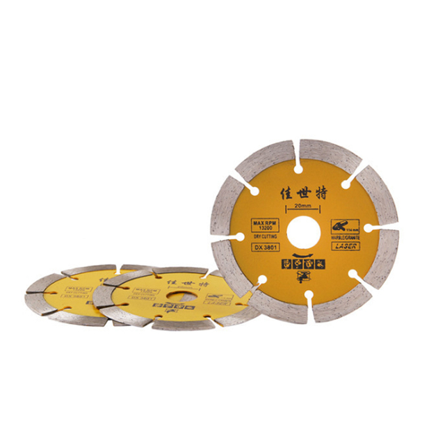 Urijk Dry cutting diamond saw blade cutting sheet material ceramic tile wall marble piece slotted For Cutting Concrete Granite