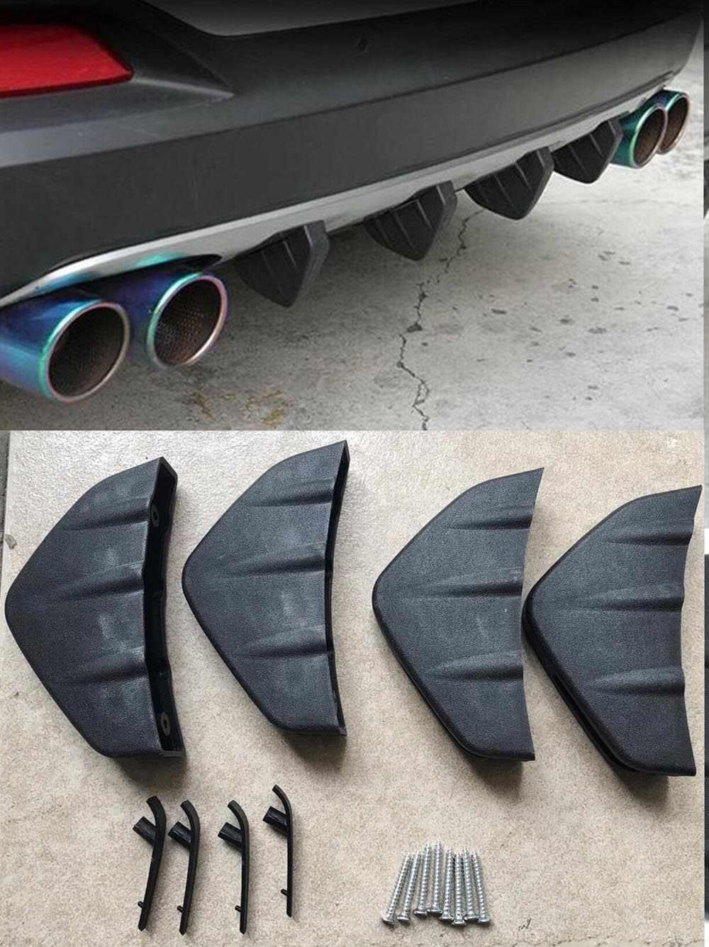 4pc ユニバーサル車のリアバンパーディフューザー成形ふかひスポイラープロテクターカバー