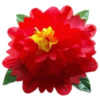 Peony Production (80cm,Yellow/Red/Blue/Pink Color available) Magic Trick Empty Hand Appearing Flower Magie Stage Gimmick Comedy