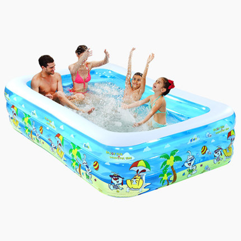 Inflatable Pool Baby Swimming Pool Portable Outdoor Children Basin Bathtub kids pool water play 338 167 129cm inflatable inflatable slide pool sea pool pool baby children swimming pool fishing thickening basin