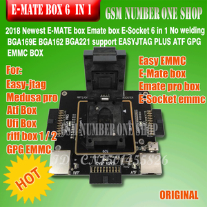 Image 2 - Origina mới E mate hộp Emate hộp E Ổ Cắm pro EMMC CÔNG CỤ tất cả trong 1 hỗ trợ BGA153/ 169, BGA162/186, BGA529, BGA 221
