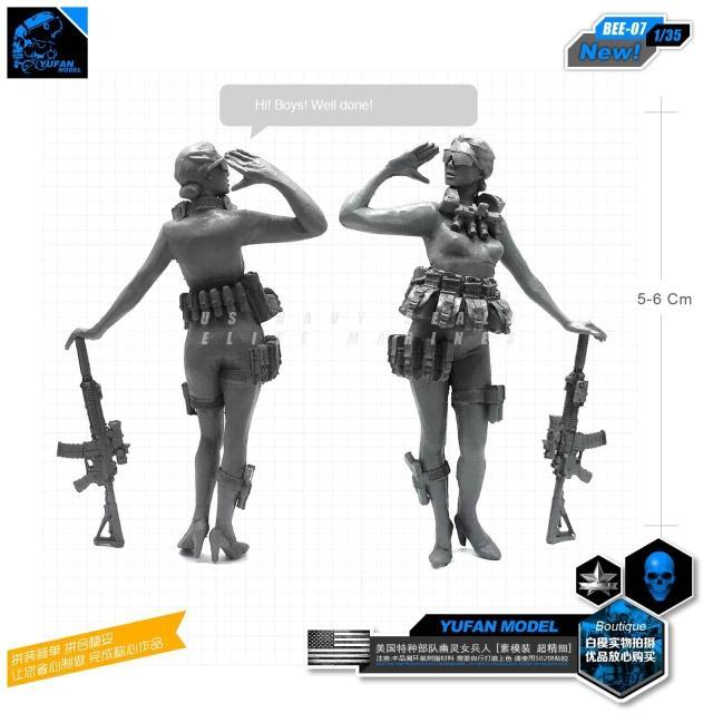 1/35 moderna nos fantasma tropas resina femenino soldados abeja-07