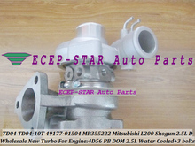 TD04 49177-01504 49177-01512 49177-01503 MR355222 MD195396 Turbo For Mitsubishi Pajero II L200 L300 Shogun 4D56 PB DOM DE 2.5L D