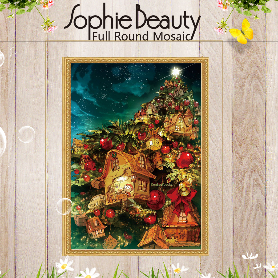 Sophie Beauty Full Round Diamond Painting Cross Stitch Diamond Heaven Christmas Gift Tre ...
