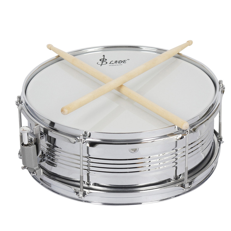 New Professional Snare Drum Head with Drumstick Drum Key Strap for Student Band High Quality Percussion Instrument Drum suerte 14 3 5 snare drum high quality stainless steel shell die cast hoop drum percussion instrumentos musicais profissionais
