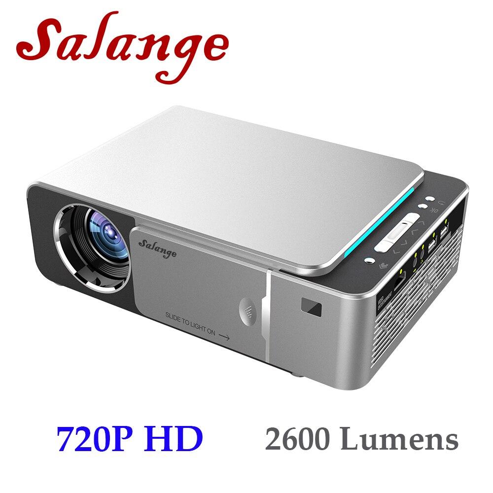 Salange P20 HD HA CONDOTTO il Proiettore, 2600 Lumen, 1280x720 p HD, android 7.1.2 Video Beamer HDMI USB 1080 p Proyector Bluetooth WIFI Beamer