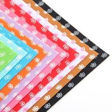 100% Polyester Printing Flower Shape Felt Fabric Patchwork DIY Craft Sewing Toy Doll Home Decoration 10PCS/lot 15CM*15CM J-10S3
