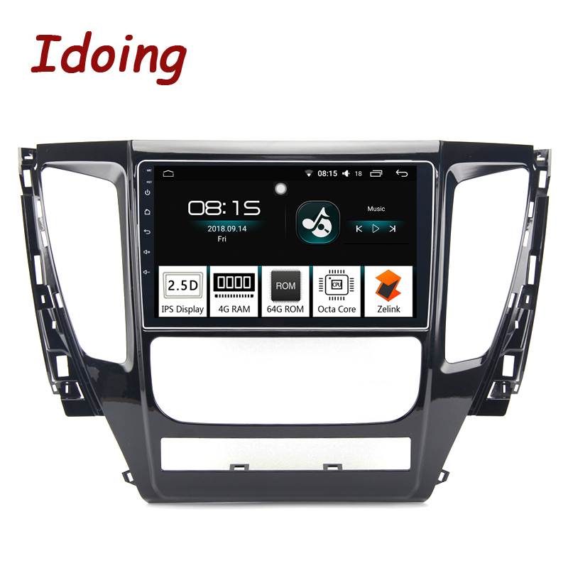 Idoing 94G+64G 2.5D IPS Screen 8Core Car Android8.0 Radio Player Fit MITSUBISHI PAJERO Sport 2016-2018GPS Navigation GLONASS