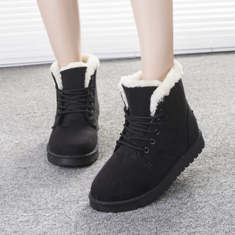 6322df71d427 Aliexpress.com   Buy LAKESHI Women Boot 2018 Fashion Women Snow Boot Botas  Mujer Shoes Women Winter Boots Warm Fur Ankle Boots For Women Winter Shoes  from ...