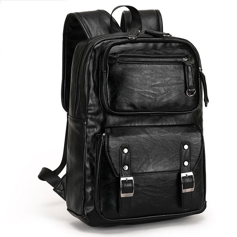 Leather Men Backpack Travel Men's Luggage Shoulder Bag Large Laptop Backpacks Functional Business School Bags for Teenager все цены