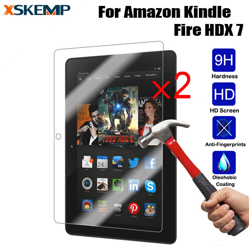 2X Tempered Glass LCD Screen Protector Film For iPad Samsung Kindle Microsoft LG