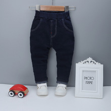 DIIMUU 1PC New Kids Boy Clothes Jeans Trousers Children Baby Boys Print Casual Bottom Denim Cotton Light Washed Legging Pants