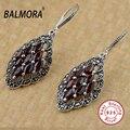 100% real pure 925 sterling silver jóias jacinto gota elegante brincos para as mulheres jóias retro Presentes festa De Natal SLS30184