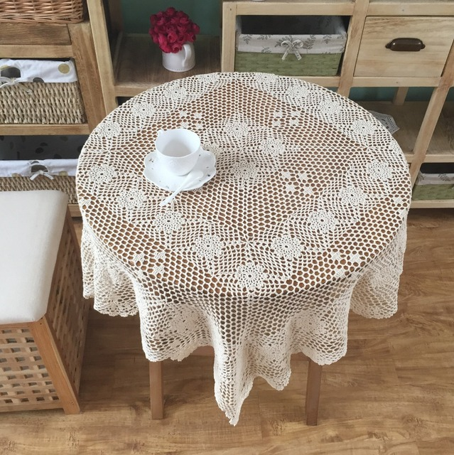 Latest Design Hand Crochet Plum Cotton Tablecloths Table Cloth Sofa Towel  Cover Cloth Home Textile