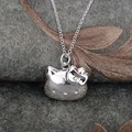 Collar plateado plata 925 joyas de plata Pandant joyería GPTNRNRB
